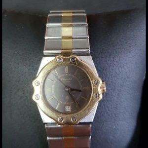 Authentic 18kt stainless Chopard Ladies watch !